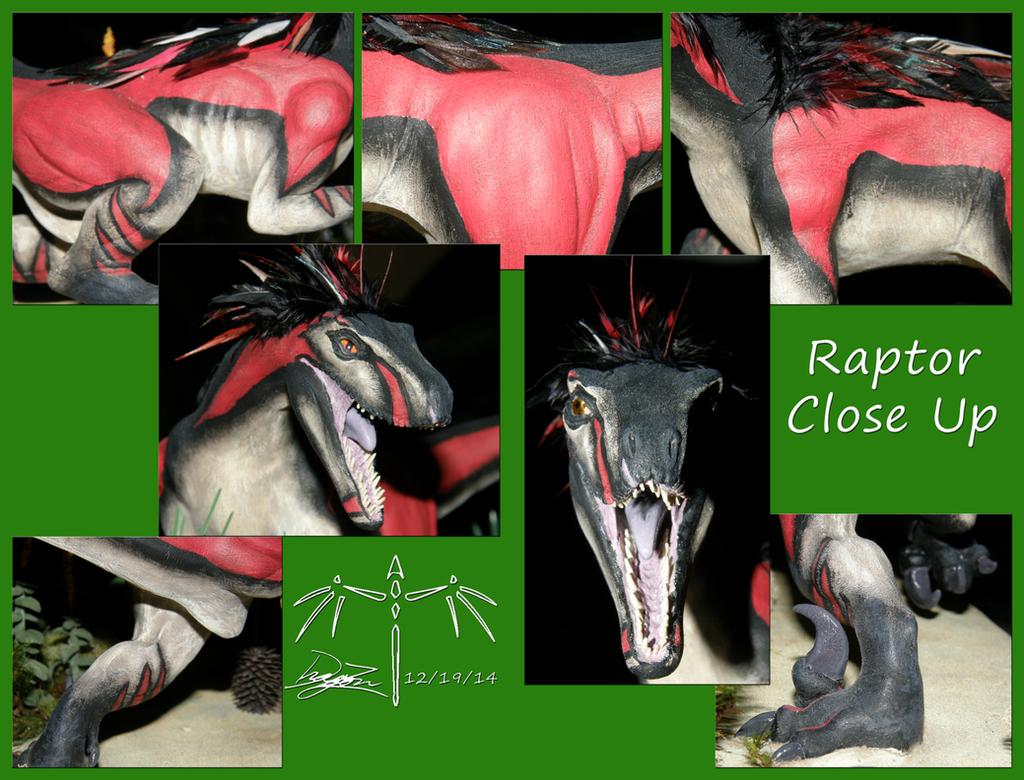 Ambush Raptor Close Ups by Dizzidragonz