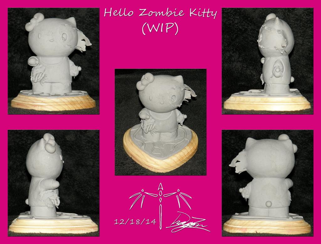 Zombie Kitty by Dizzidragonz