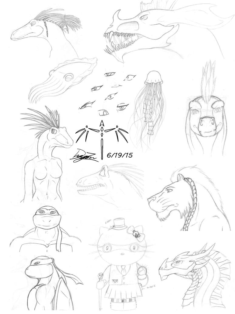Sketch Dump by Dizzidragonz