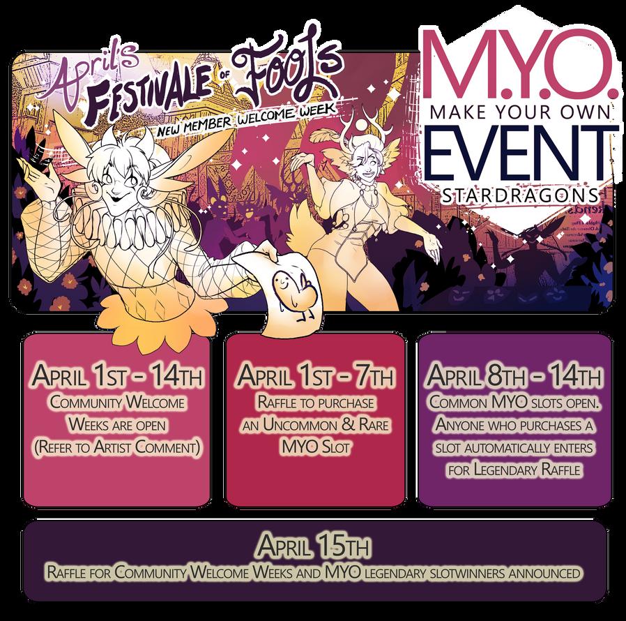Festivale of Fools(StarDragon MYO April1st-14th) by CuttleSkulls