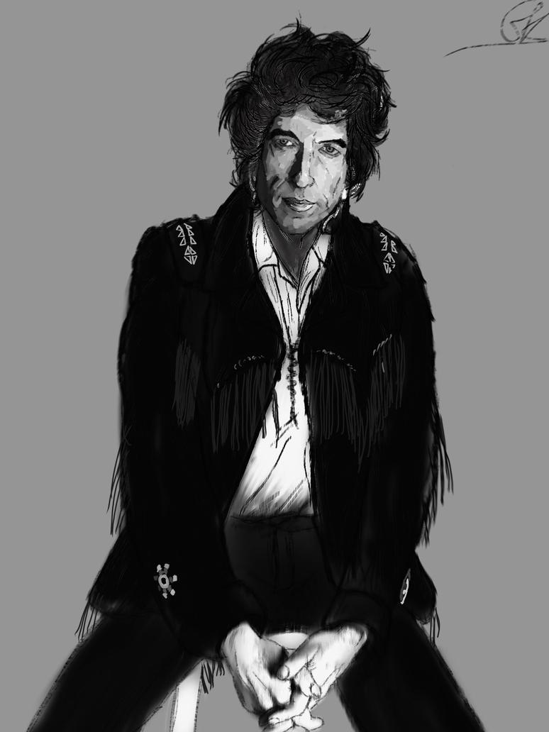 Bob Dylan 1986 (Black and White) by ShortBackAndSides