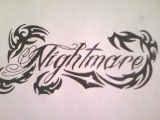 Nightmare wording with tribal (a7x) by gbftattoos