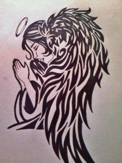 Angel overlay tattoo by gbftattoos