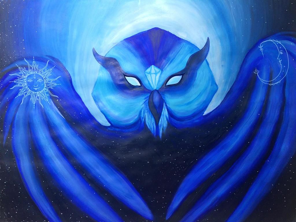 Cosmic Owl by SomethingSchmancy