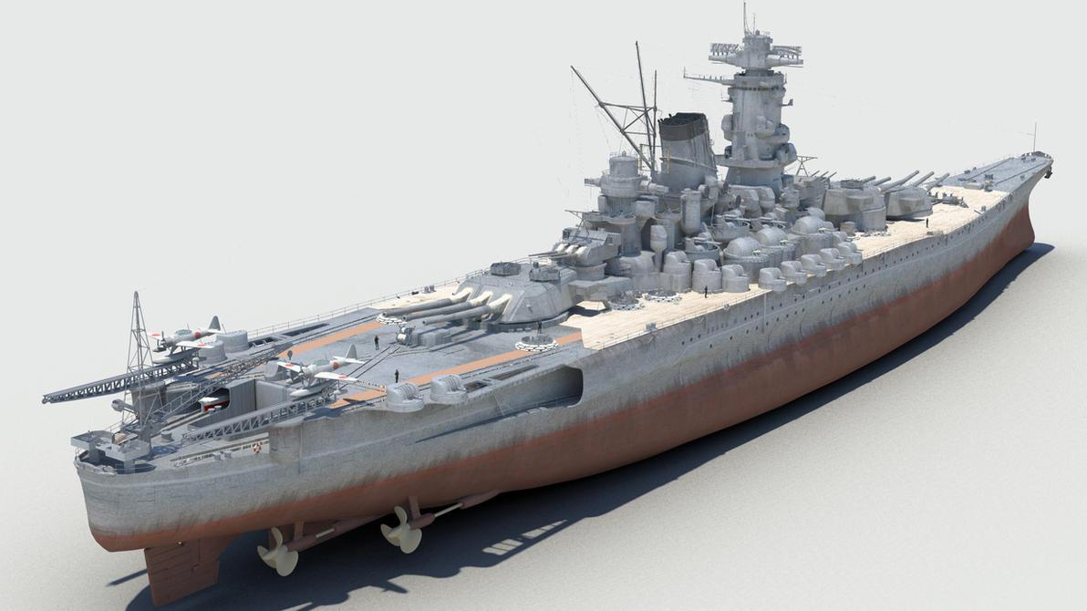 Battleship yamato by kremel on deviantart for Porte helicoptere