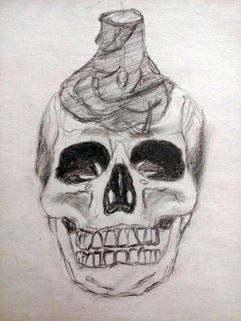 cG sucks at drawing #9: Skull or smthn by cuestickGenius