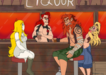 Meeting at the pub by Demonspirit101