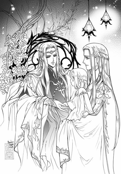 Oropher Thranduil legolas 1 by Kazuki-MENDOU