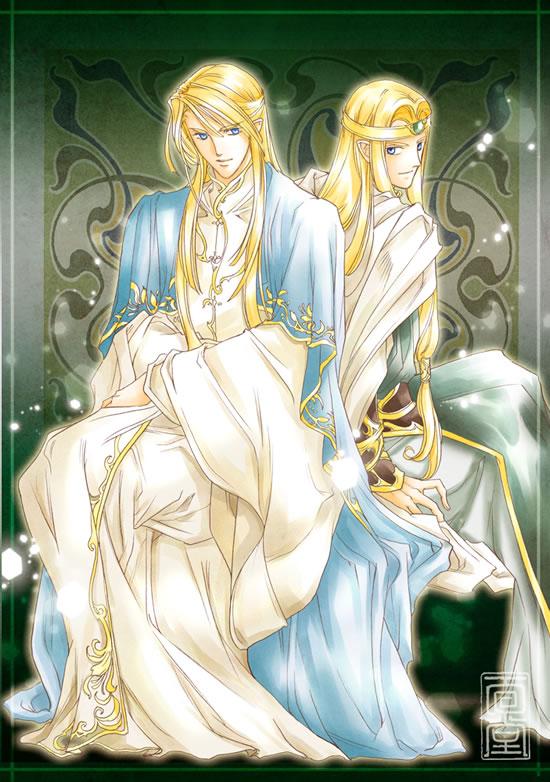 Glorfindel and Gildor by Kazuki-MENDOU
