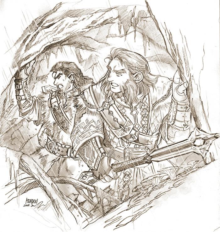 Young Balin and dwalin by Kazuki-MENDOU