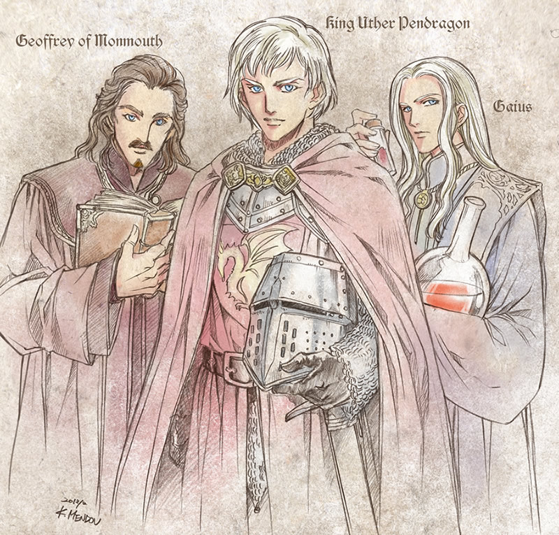 Young Uther, Gaius,Geoffrey by Kazuki-MENDOU