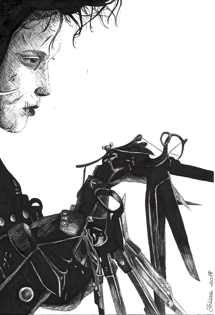 Inktober #13 - Edward Scissorhands [Innocence] by montageofheck