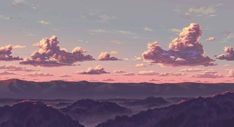 Sunset (anime style)