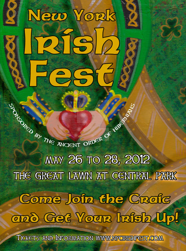 IRISH FEST POSTER 2 ACRYLICS by SCT-GRAPHICS