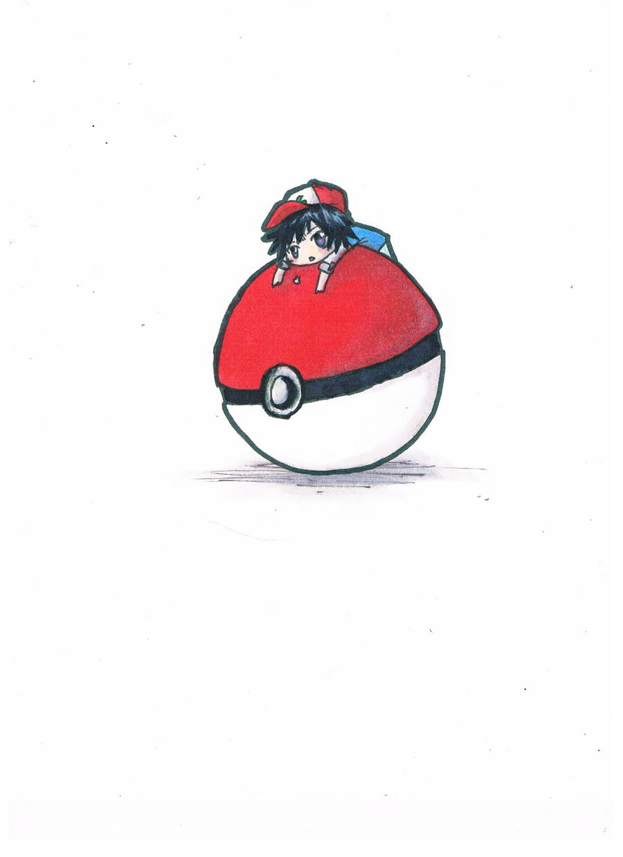 Ash Ketchum and Pokeball by derpypandas
