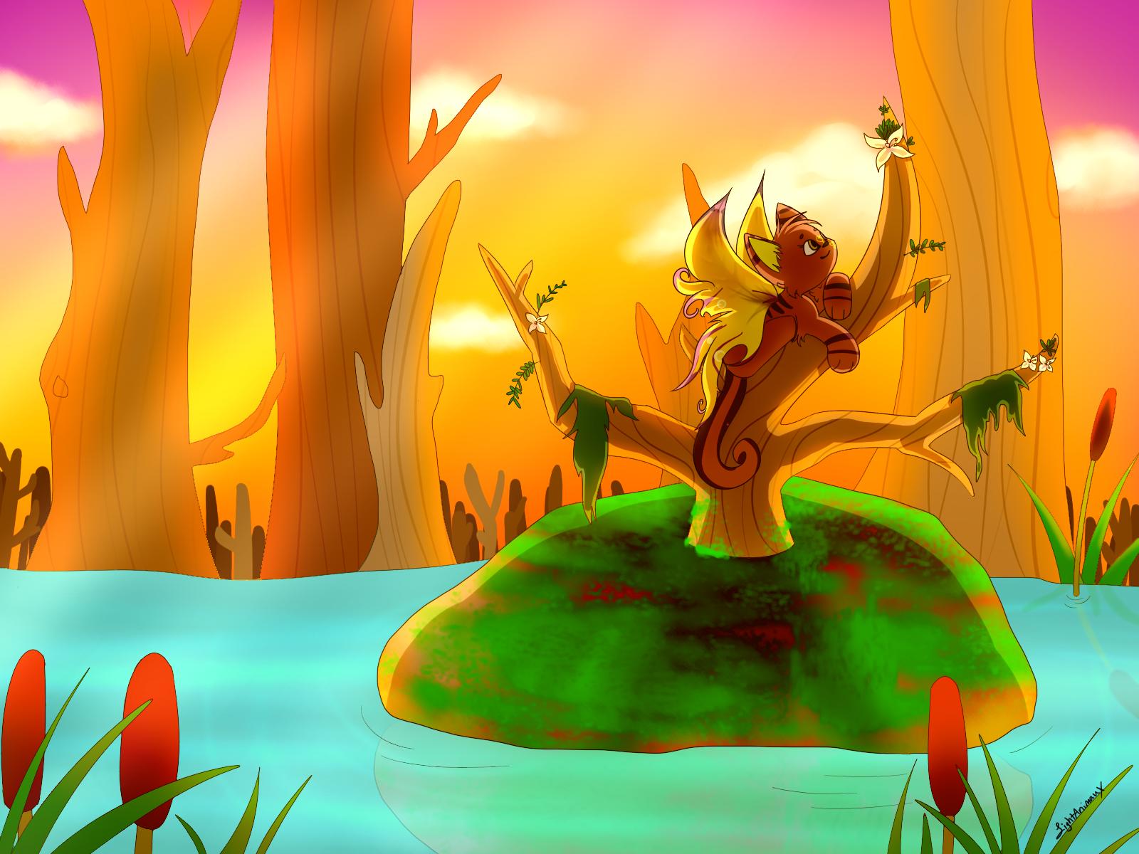 Swamp Sunset by LightAnimaux