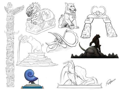 Sketches - Paleo Decorations