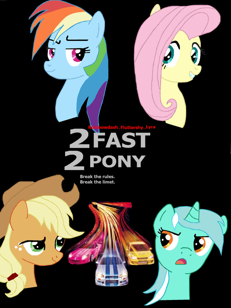 2 fast 2 pony. racing is magic by Mennorino