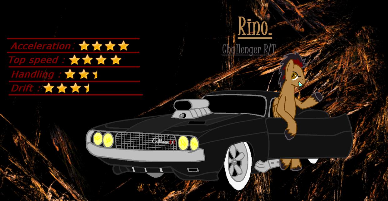 Mlp Street Racing pony's Rino. by Mennorino