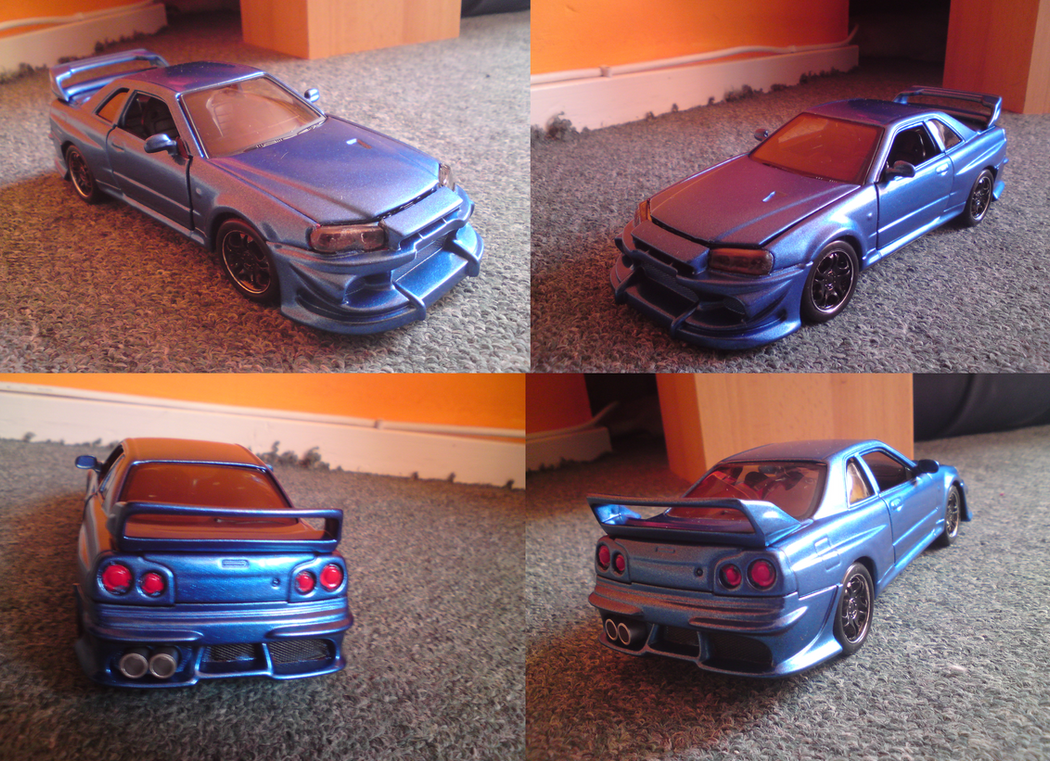 Black Napalm\'s Nissan Skyline gtr. Real Model car! by Mennorino on ...