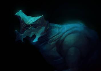 blue creature by leonardovincent
