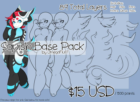 Squish Base PACK $15 / 1500 points