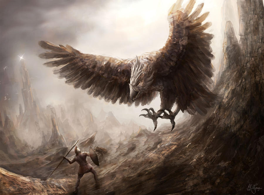 Giant Bird Fight by artificialguy