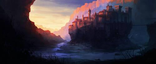 fantasy city by artificialguy