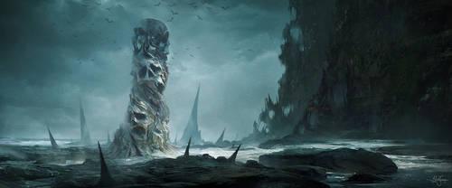 Skull Pillar