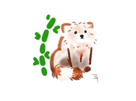 red panda sumi-e attempt by ivyterasu