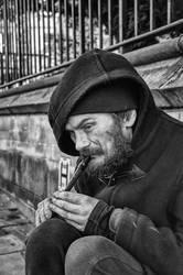 Homeless flute Man