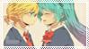 Stamp: Miku-x-Len by SunforJanuary