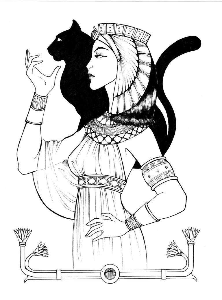 egyptian old empire queen by shyangell on DeviantArt