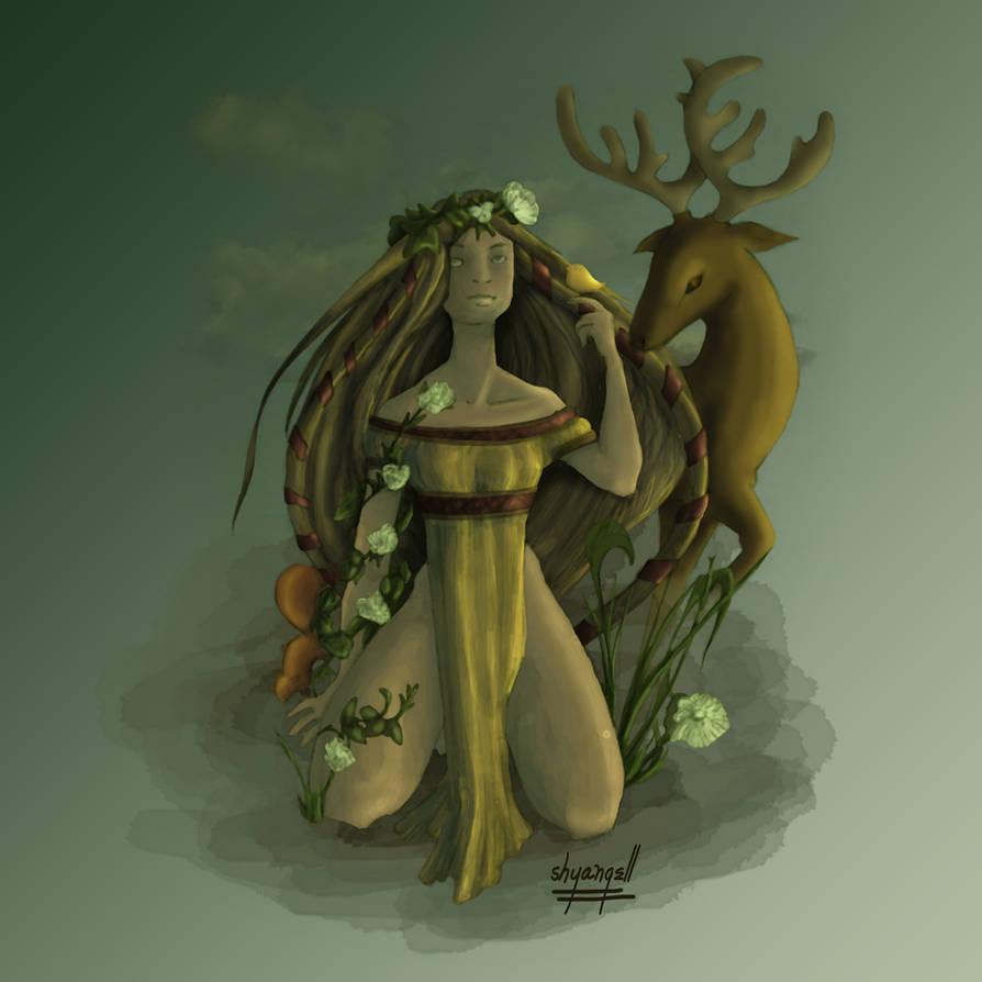 Mother Earth Yavanna by shyangell