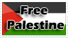 Palestine Free stamp by Nakamo