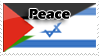 Israel-Palestine Peace Stamp by Nakamo