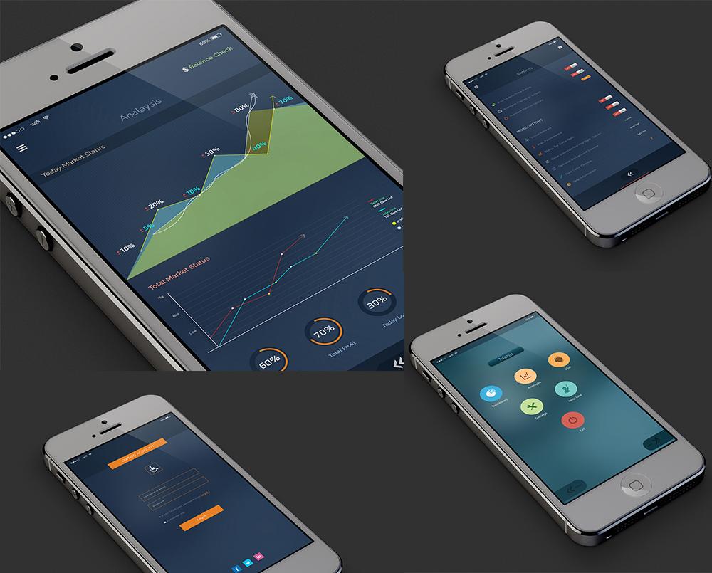 Market Status IOS Apps UI/UX design by hazratali2020