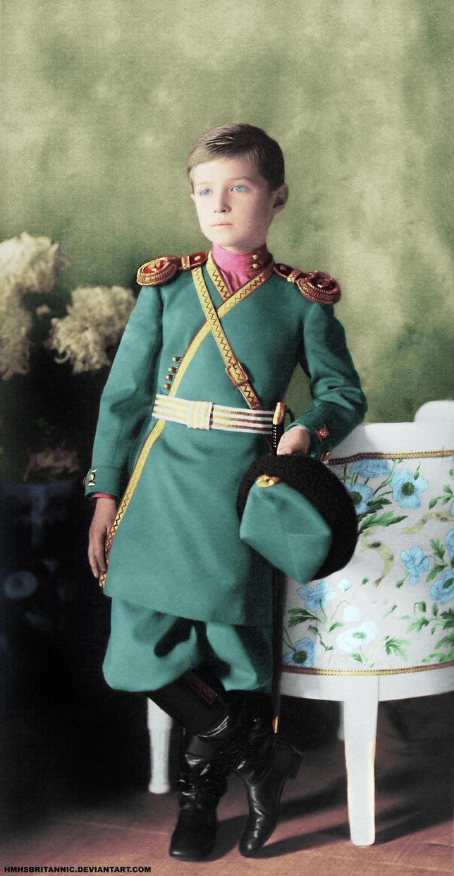 Alexei Nikolaevich, Tsarevich of Russia by hmhsbritannic