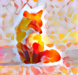 Leafy foxie by Aurora-Alley
