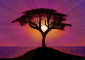 Tree in wondrous twilight (Daily 37)