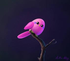 Pink BIRB (Daily 50) by Aurora-Alley