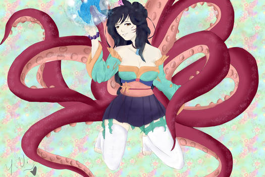 Ahri: Sea Life Skin: Remake