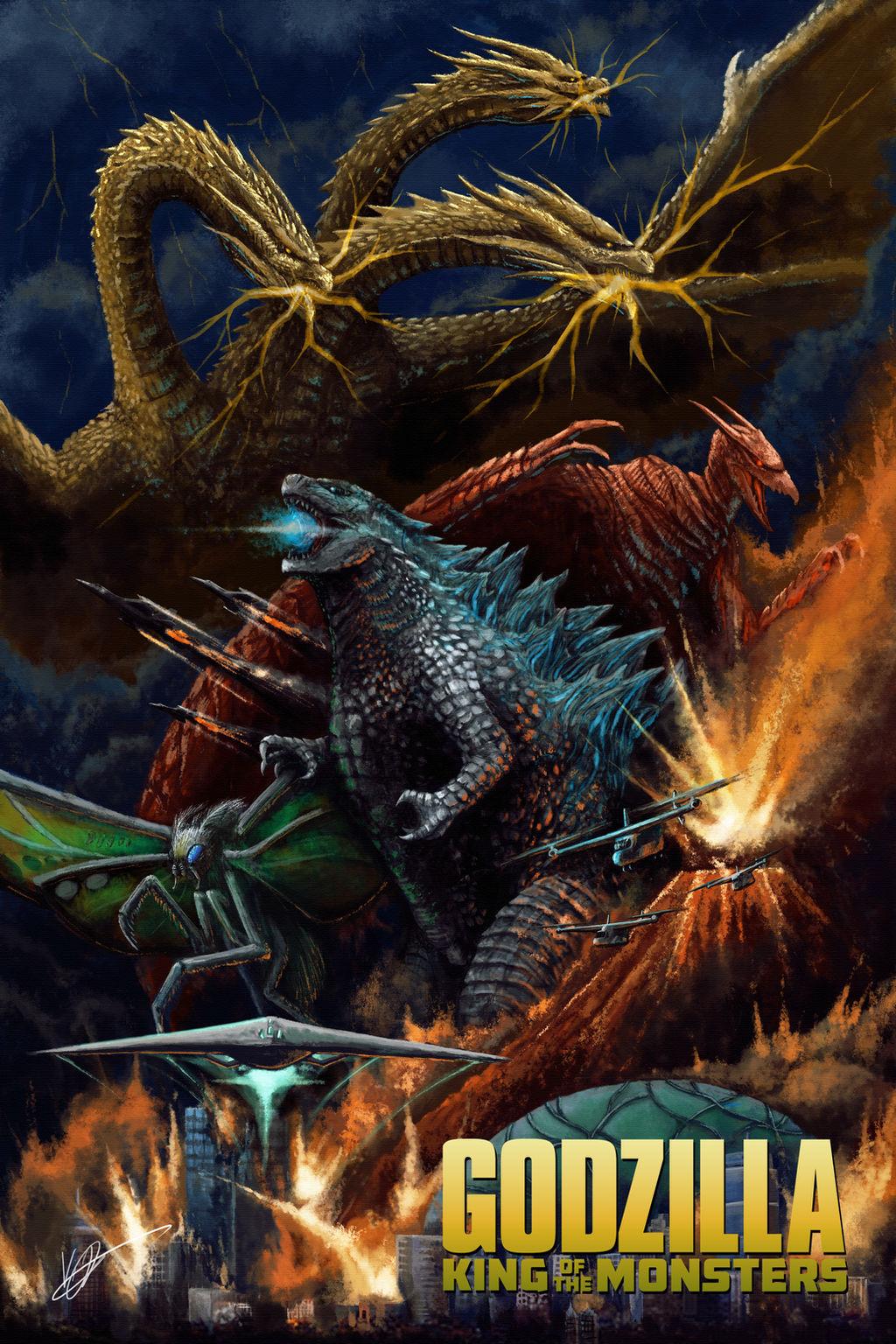 Godzilla King Of The Monsters 2019 Full Poster By Phaz0ngoji On Deviantart