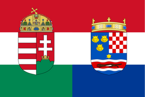 Flag of Hungary-Croatia by TiltschMaster