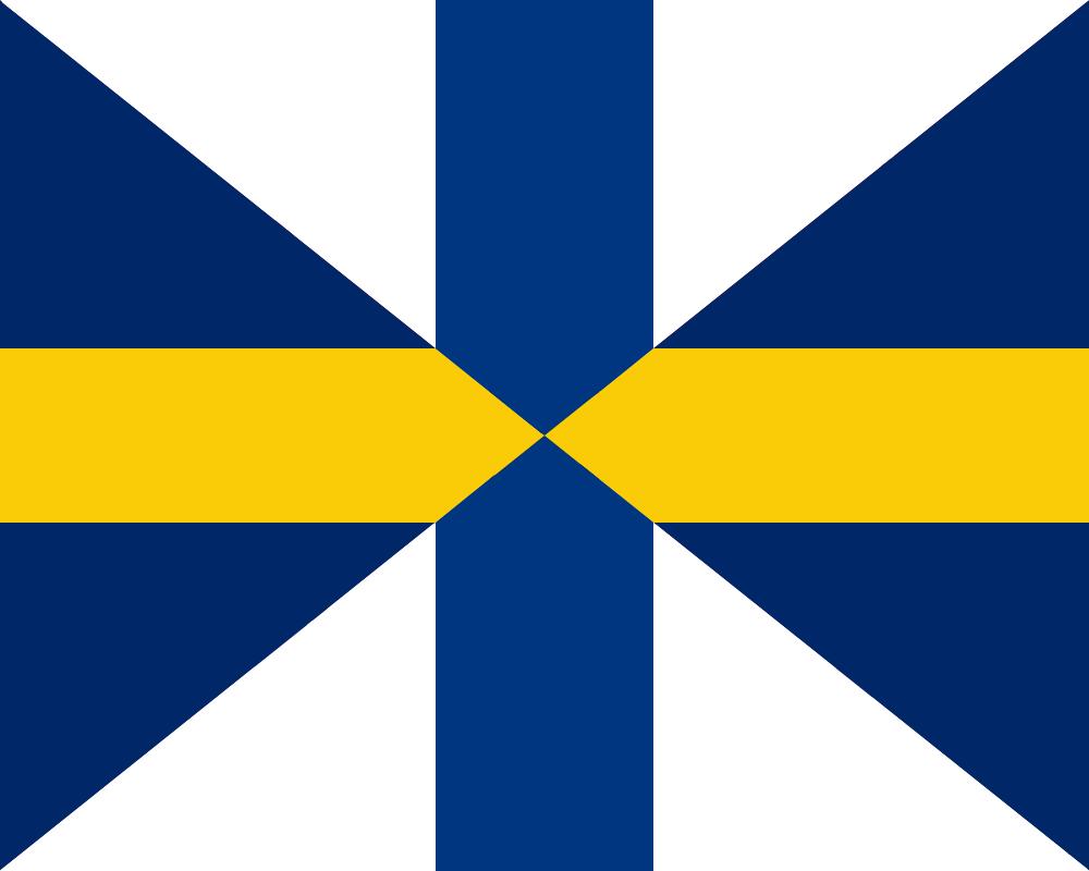 Flag United Kingdom of Sweden and Finland by TiltschMaster