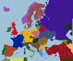 Map of Consulate Europe, 1991