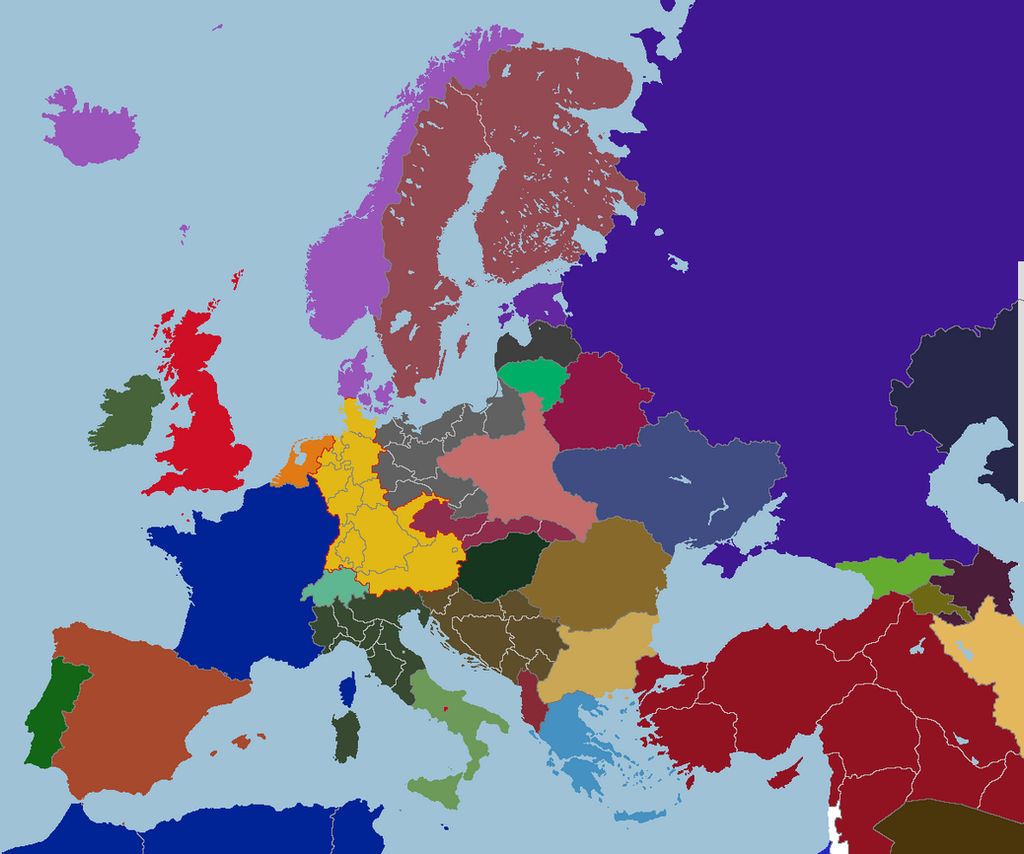 Map of Consulate Europe, post World War II by TiltschMaster ...