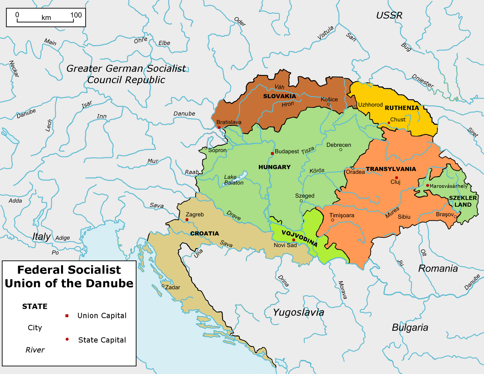 Map Union Of The Danube Greater Germany By TiltschMaster On - Germany map 2015