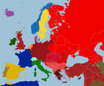Map of Europe after 1938