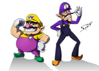 Commission : Wario e Waluigi by Deyvidson